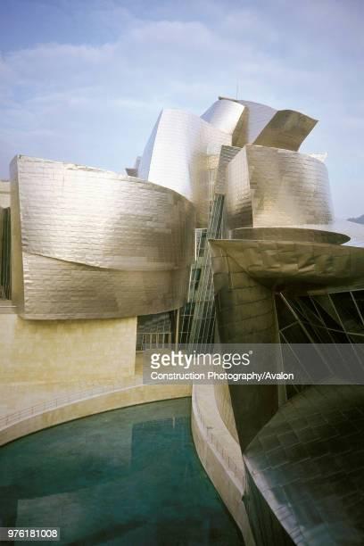 Exterior of Guggenheim Museum, Bilbao, Spain, Designed by Frank O Gehry,.