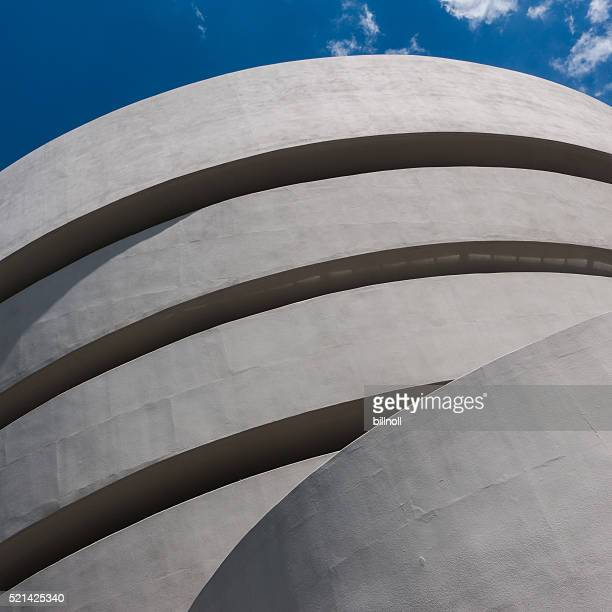 exterior of guggenheim museum in new york city, usa - solomon r. guggenheim museum stock photos and pictures