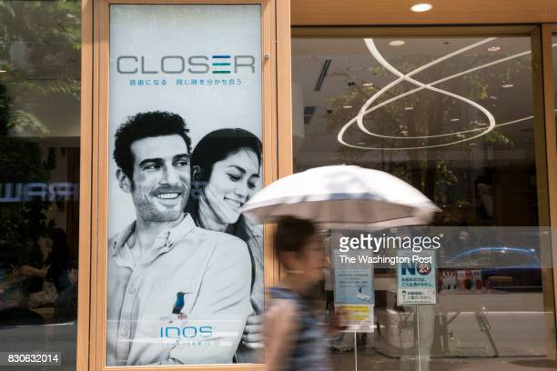 Exterior of IQOS store in Tokyo Japan on July 31 2017 Phillip Morris is trying to sell IQOS a new kind of cigarette called heatnot burn It is already...