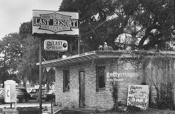 Exterior of Last Resort bar where murderer Aileen Wuormos dubbed lesbian killer was arrested for 7 serial murders of men Volusia County