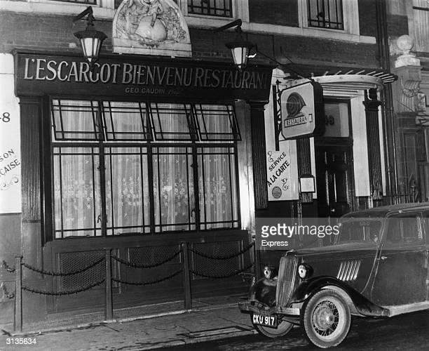 Exterior of L'Escargot restaurant in Soho London