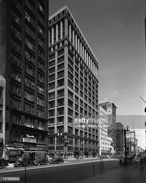 Exterior of Marshall Field & Company from State & Madison, Chicago, Illinois, July 15, 1947.