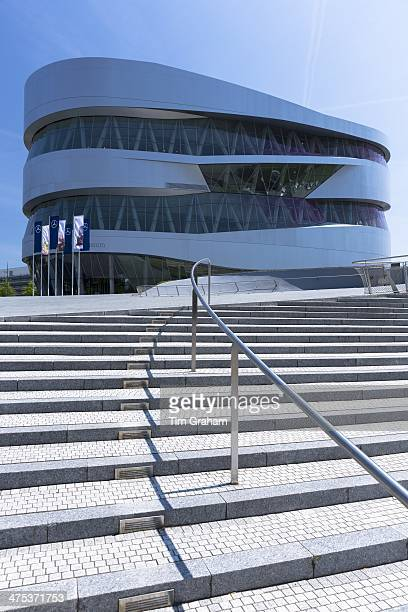 Exterior of MercedesBenz museum gallery in Mercedesstrasse in Stuttgart Bavaria Germany