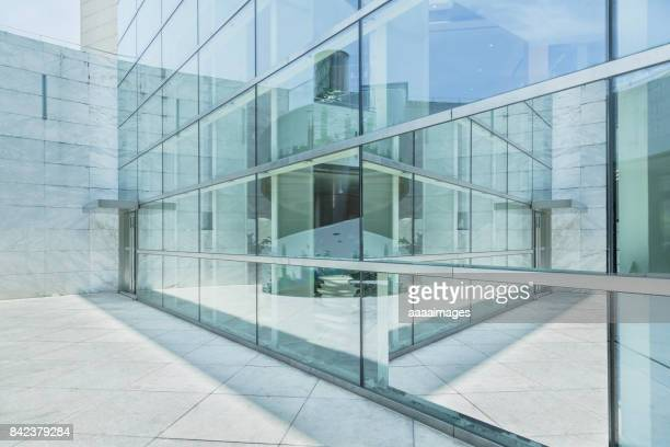 exterior of modern architecture - facade stock pictures, royalty-free photos & images
