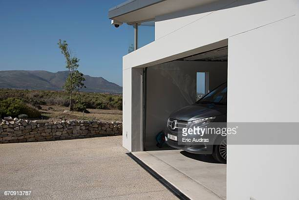 Exterior of modern car garage