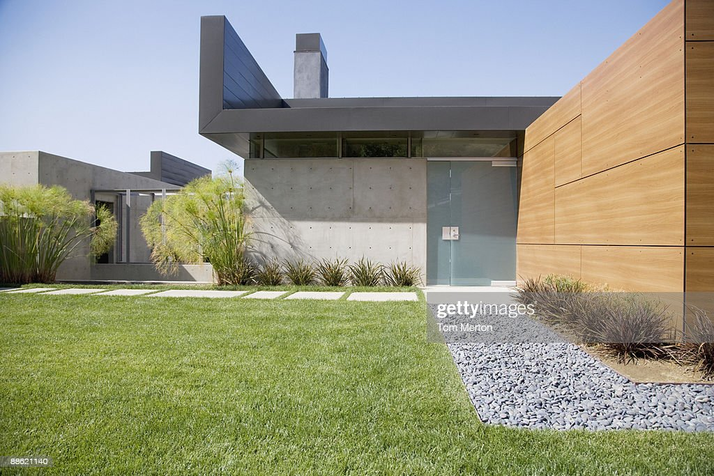 Exterior of modern house : Stock Photo