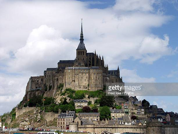Exterior Of Mont Saint-Michel Against Sky