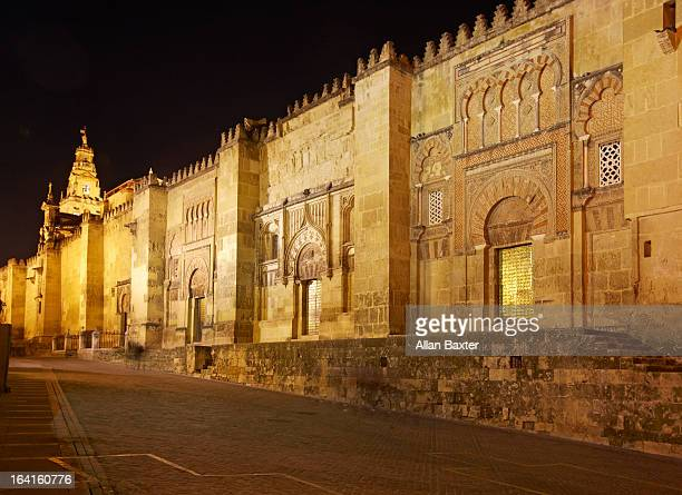 Exterior of Mosque Cathedral of Cordoba at night