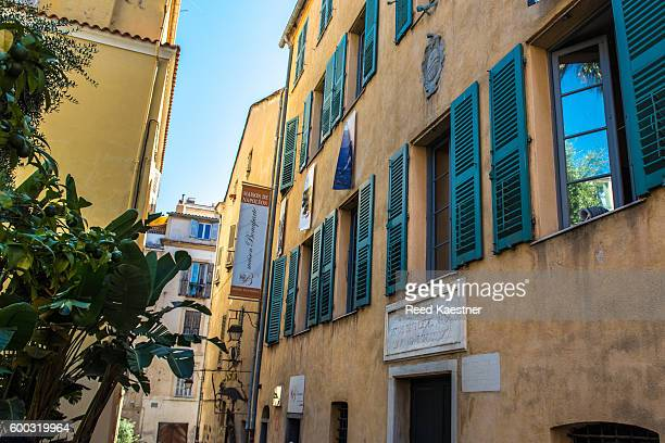 exterior of napoleon's birth home - ajaccio stock photos and pictures