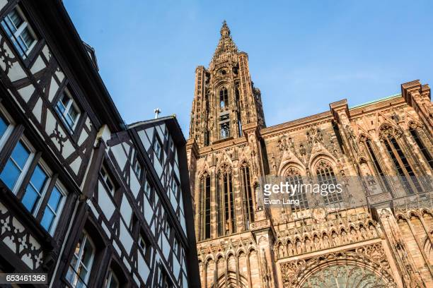 Exterior of Notre Dame Cathedral - Strasbourg
