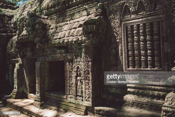 exterior of old ruins - bortes stock pictures, royalty-free photos & images