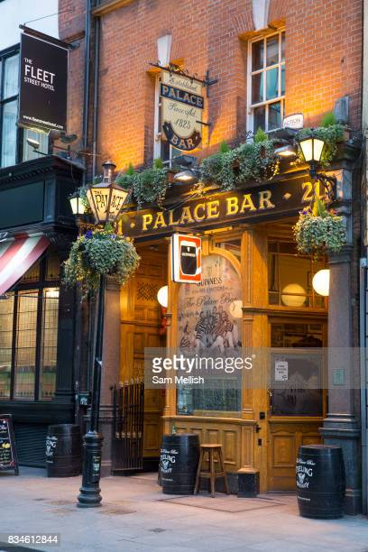 Exterior of Palace Bar, a traditional Irish Bar, on 04th April 2017 in Dublin, Republic of Ireland. Dublin is the largest city and capital of the...