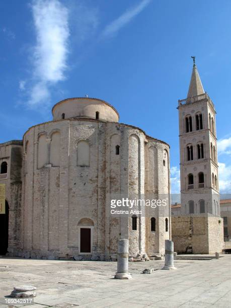 Exterior of Preromanesque church of St Donatus of Zadar on the northeastern part of the Roman forum in the city Dalmatia Croatia