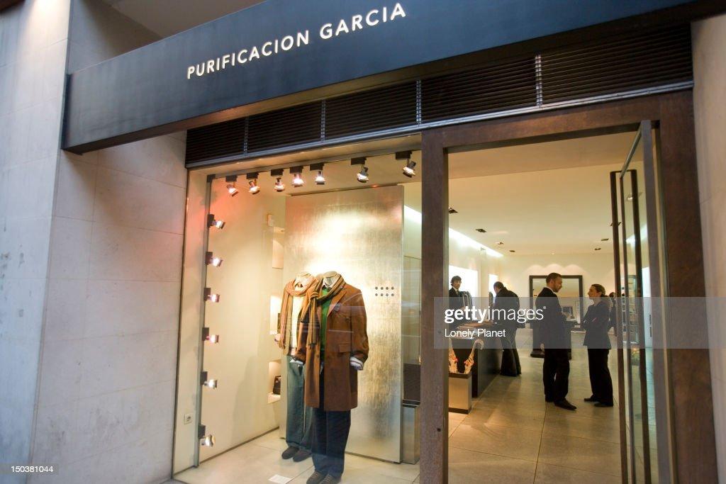Exterior Of Purificacion Garcia Fashion Boutique On Carrer Colon Central Stock Photo