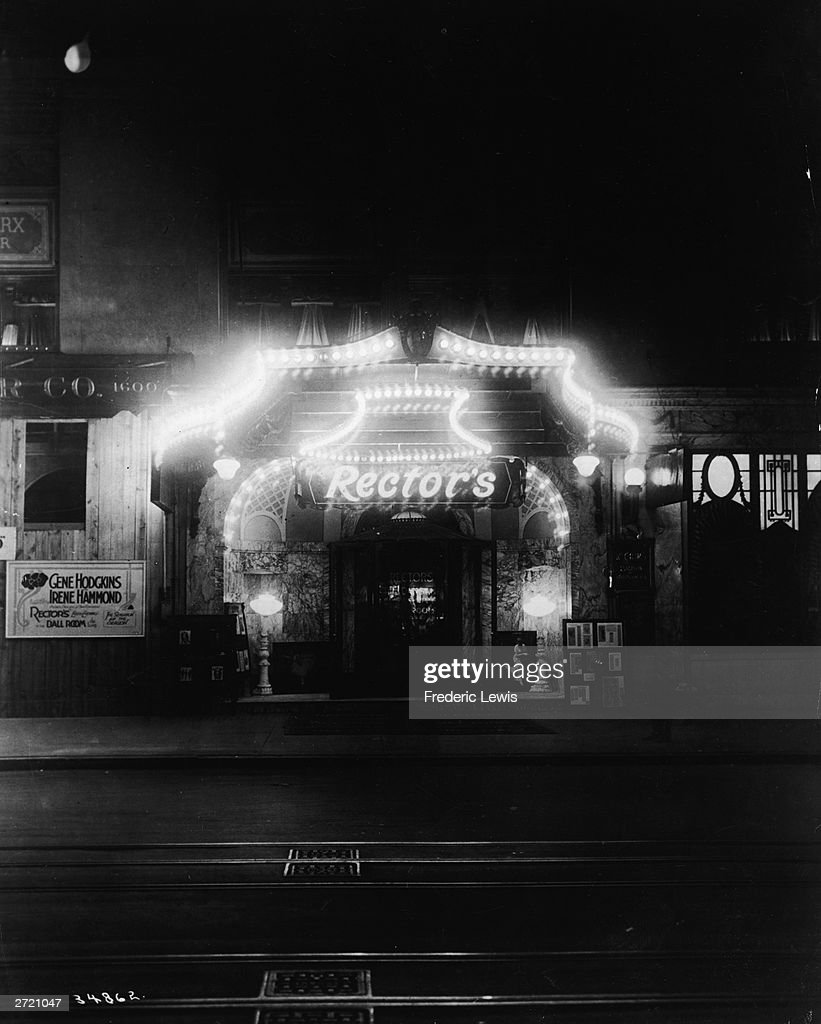 Exterior Of Rector S Restaurant With Its Entrance Illuminated At Night On 42nd Street In New