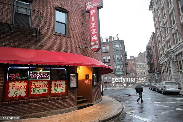 Exterior of Regina Pizzeria in the North End