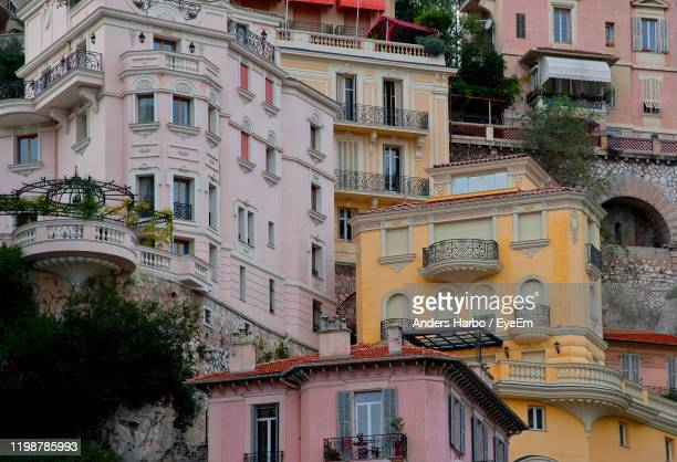 exterior of residential buildings - monte carlo stock pictures, royalty-free photos & images