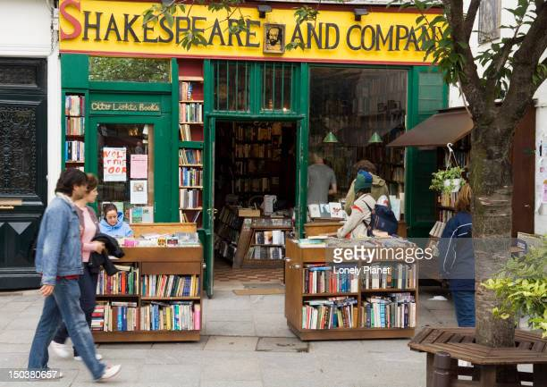 Exterior of Shakespeare and Co. bookshop in the Marais.