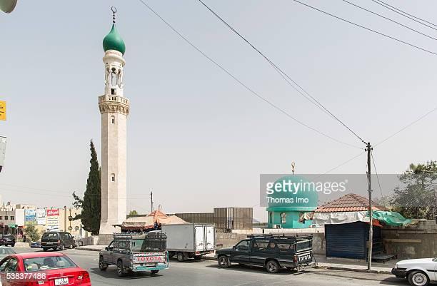 Exterior of Shishan Mosque and Minaret on April 08 2016 in Sweileh Jordan