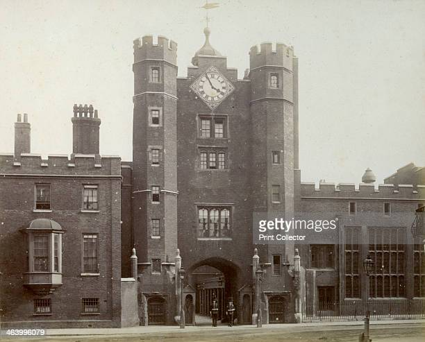 Exterior of St James's Palace London 1887 Situated on the Mall just to the north of St James's Park St James's Palace was commissioned by Henry VIII...