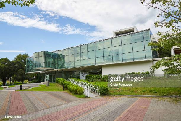 Exterior of Taipei Fine Arts Museum. The museum was the first contemporary arts museum to open in Taipei, and was built using a local interpretation...