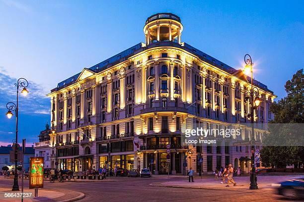 Exterior of the 5 star Hotel Bristol in the Krakowskie Przedmiescie in Warsaw