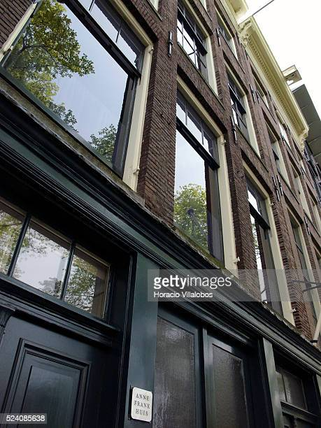 Exterior of the Anne Frank house and museum