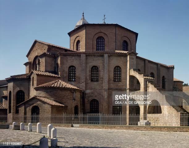 Exterior of the Basilica of San Vitale , Ravenna, Emilia-Romagna, Italy, 6th century.