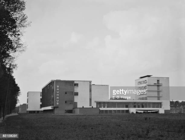 Exterior of the Bauhaus school Dessau Germany 1928 The school a center of artistic and design experimentation existed from 1919 to 1933 and in this...