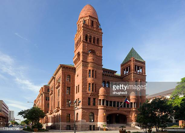 exterior of the bexar county courthouse, san antonio, texas - san antonio texas stock photos and pictures