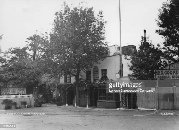 Exterior of the Bull Bush pub in Hampstead London