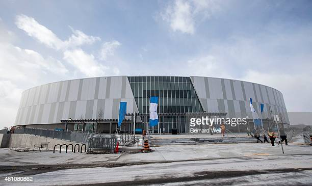 Exterior of the Canadian Track Championships at the Cisco Milton Pan Am/Parapan Velodrome