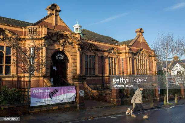 Exterior of the Carnegie Library on Herne Hill in south London which reopens for the first time in almost 2 years on 15th February 2018 in London...