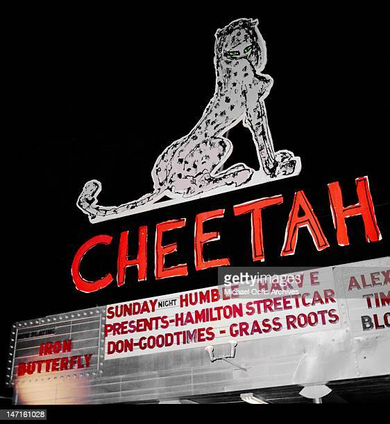 Exterior of the Cheetah located on Lick Pier on January 5 1968 in Santa Monica California