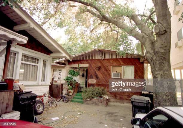 Exterior of the childhood home of American actor Leonardo DiCaprio, Los Angeles, California, January 7, 1998.