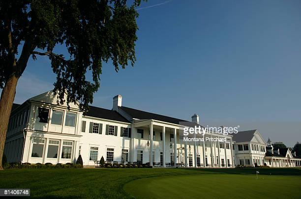 Exterior of the clubhouse at Oakland Hills Country Club in Bloomfield Hills, Michigan on August 29, 2007.