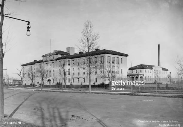 Exterior of the Coney Island Hospital on Ocean Parkway in the borough of Brooklyn in New York City, New York, circa 1915.