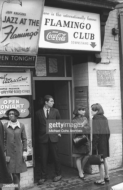 Exterior of the Flamingo club in April 1966 in London England