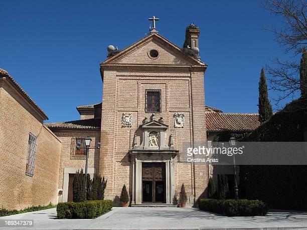 Exterior of the former Carmelite convent de La Encarnación in Boadilla del Monte founded in the seventeenth century by the Lords of Boadilla Madrid...