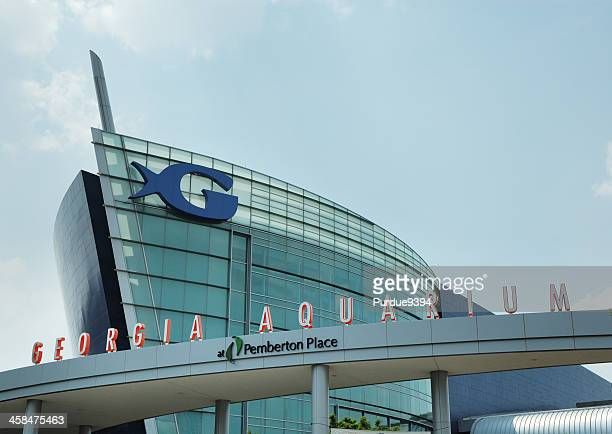 Exterior of the Georgia Aquarium Building in Atlanta