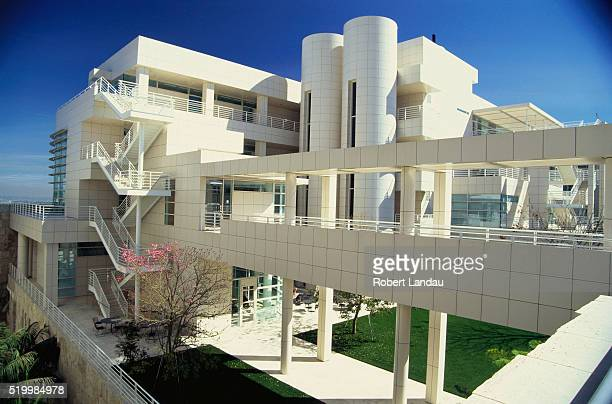 exterior of the getty center - j. paul getty museum stock pictures, royalty-free photos & images