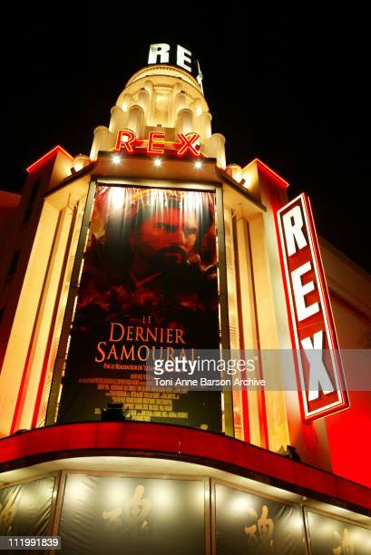 Exterior of the Grand Rex Theater during 'The Last Samurai' Paris Premiere Outside Arrivals in Paris France