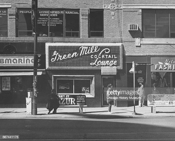 Exterior of the Green Mill Cocktail Lounge at 4802 North Broadway Chicago Illinois April 19 1986