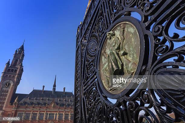 外観のヘイグの平和宮殿 - 国際法 ストックフォトと画像