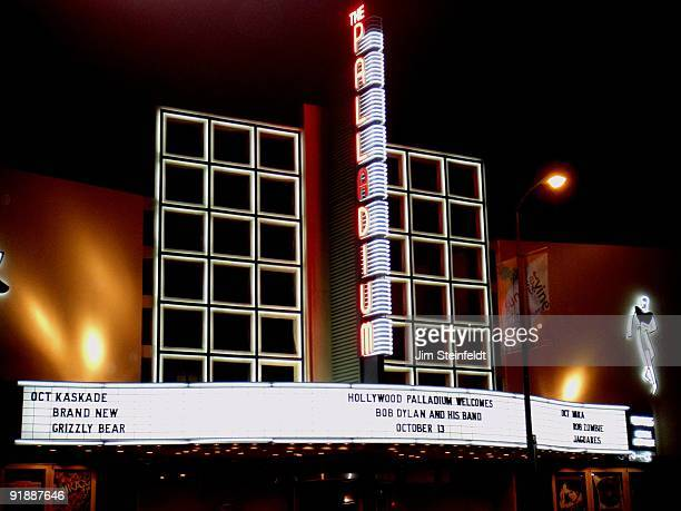 Exterior of the Hollywood Palladium where Bob Dylan and his band will give three concerts in Los Angeles, California on October 13, 2009.