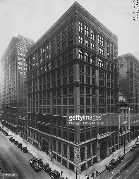 Exterior of the Home Insurance Building widely considered to be the world's first modern skyscraper Chicago 1926 It was designed by William Le Baron...