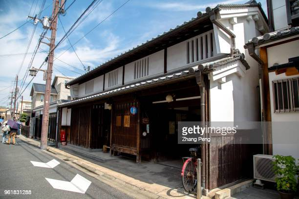 Exterior of the house also known as 'machiya' is the landmark building and tourist attraction of Nara old street which reproduces Nara's traditional...