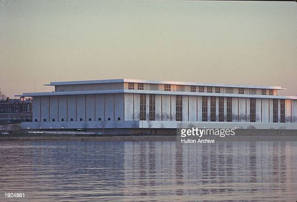 Exterior of the Kennedy Center on the Potomac River Washington DC undated