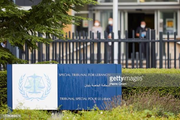 Exterior of the Lebanon Tribunal on August 18 2020 in The Hague Netherlands The Special Tribunal for Lebanon must render its verdict on the trial of...