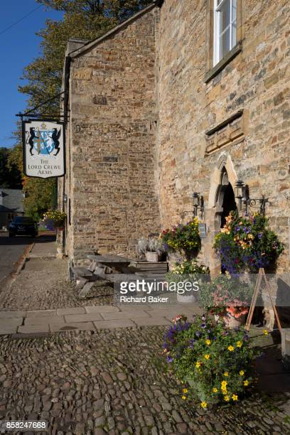 Exterior of the Lord Crewe Arms Hotel in the Northumbrian village of Blanchland on 29th September 2017 in Blanchland Northumberland England...